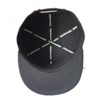 100% Acrylic snap back black cap