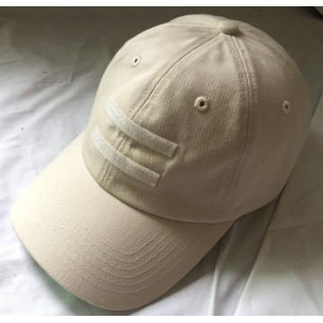 100% brushed cotton twill blank baseball cap
