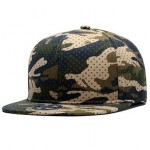 Camouflage pattern snapback caps