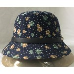 Women cloche hat with leather band