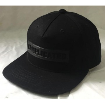 Embossed logo snap back cap