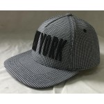 Herringbrone fabric snap back cap