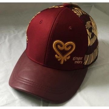 Fashion burgundy baseball cap