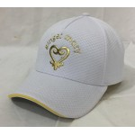 White polyester mesh liquid metal baseball cap