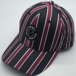 Burgundy Stripes Women Baseball Cap