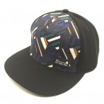 Screen printing and rubber badge snapback hat