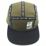 Tapes outside with logos camper hat
