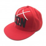 ICON red jersey snapback cap