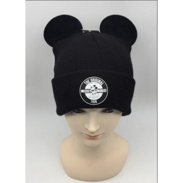 Mickey Mouse knitted hat with ears