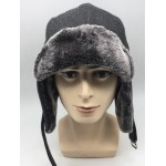Wool and Fur Aviator Hat with Earflaps